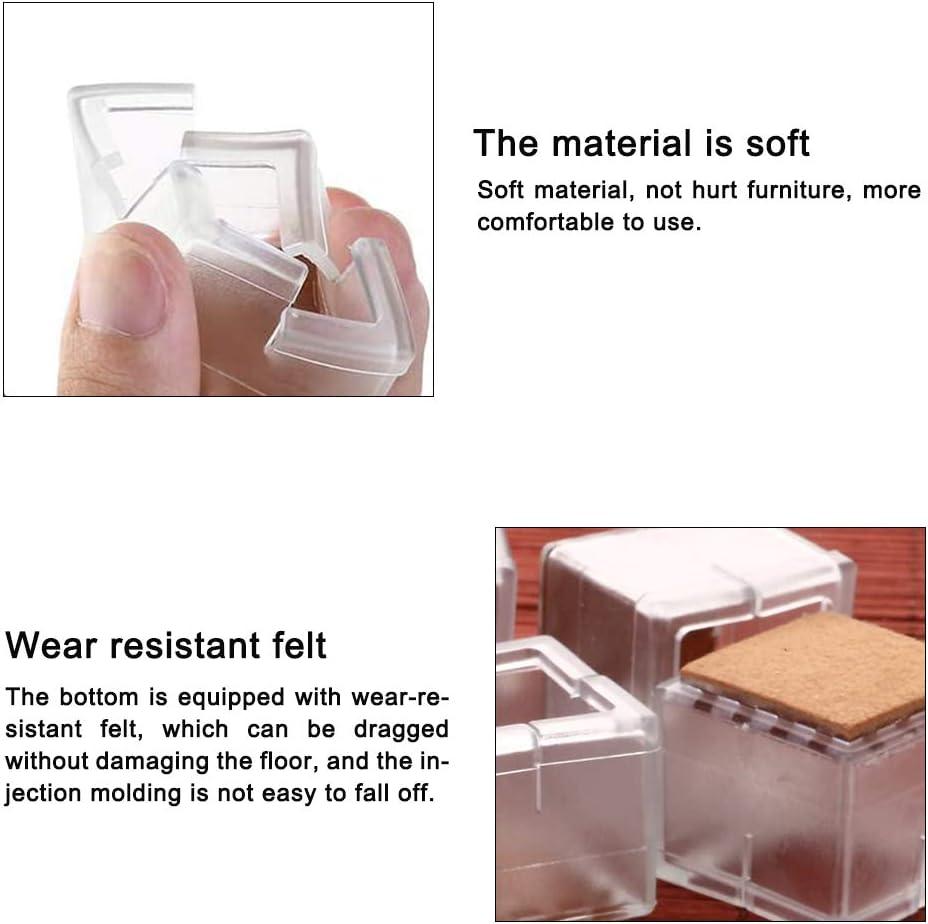 12 unidades evita ara/ñazos y ruidos 35 mm sin dejar rastros Mopoin Tapones de silicona para patas de silla 30 almohadillas de silicona para muebles para patas de silla cuadrados