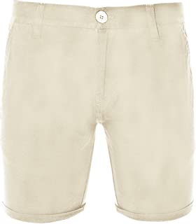 Mens Brave Soul Smith Chinos Knee Length Summer Holiday Roll Up Cotton Shorts