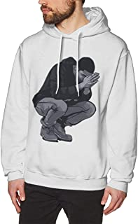 Mens Comfortable Print with 6 Pray Hands OVO Drake Owl Design Pullover Hoodies