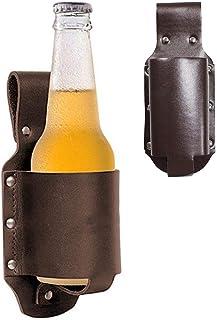 Suszian Fondina di Birra in Pelle Classica Fondina di Birra portabottiglie Bevanda Marsupio per Picnic Spiaggia Barbecue Lavoro Fai da Te Giardinaggio Escursionismo Campeggio