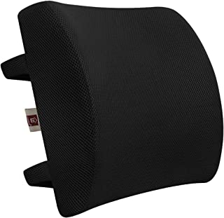 LOVEHOME Memory Foam Lumbar Support Back Cushion with 3D Mesh Cover Balanced Firmness..