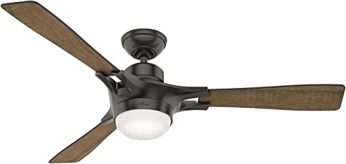"""high quality Hunter Signal Indoor Wi-Fi Ceiling Fan with high quality LED Light and Remote Control, 54"""", Noble online sale Bronze sale"""