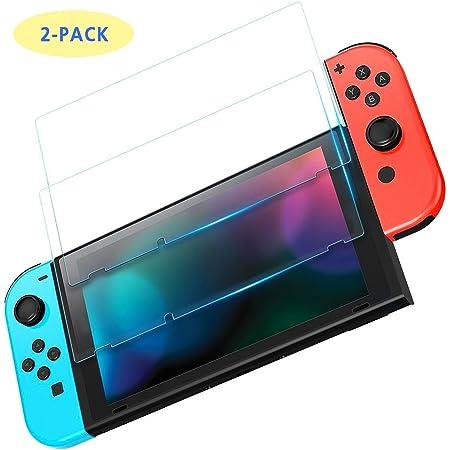 EFFE Protector de Pantalla Nintendo Switch 2017, 2pack Vidrio Templado Transparente HD Protector de Pantalla Transparente Anti arañazos para Nintendo Switch
