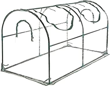 Seven colors house Reinforced Portable Mini Greenhouse 35.4 x 70.8 x 39 inches Vegetable Plant Mini Arc Greenhouse with Clear