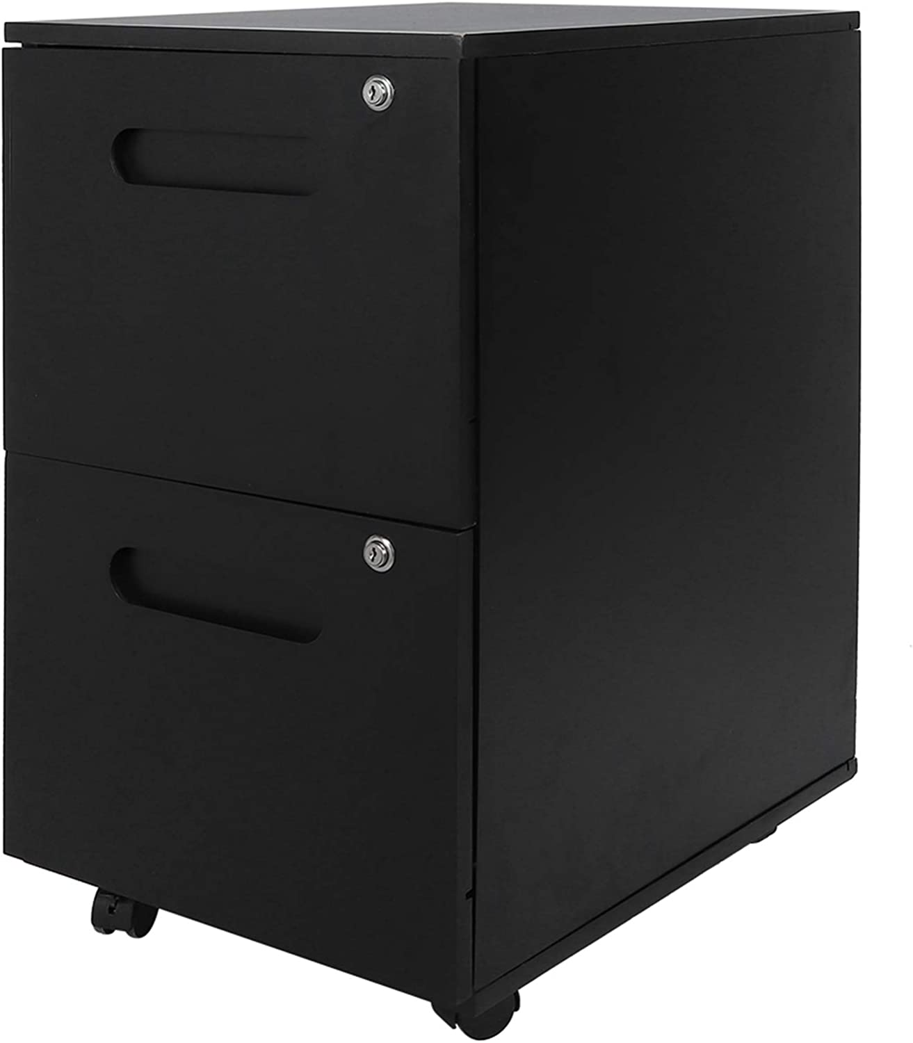 TANKE Wheeled File Cabinet 2 Max 83% OFF Drawer Ches Document Storage New Orleans Mall Mobile