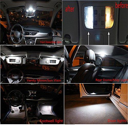 muchkey Lot de 18 ampoules LED Canbus 3W 12V pour eacute clairage de plaque dapos immatriculation, plafonnier, eacute clairage de porte