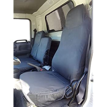 FORD TRANSIT 2016 WATERPROOF HEAVY DUTY BLACK VAN SEAT COVERS 2+1