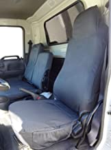 Durafit Seat Covers,1995-2005 Isuzu NPR and GMC Commercial Truck High Back Bucket Seat on Driver's Side and Split Bench Seat on Passenger Side, Waterproof Work Truck Seat Covers, Gray Endura Fabric
