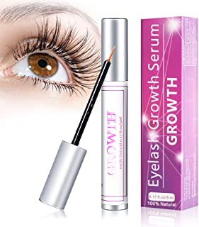 Eyelash Growth Serum - 100% Natural Lash Boost Growth Serum,Lash & Eyebrow Enhancer Growth Serum For Long, Luscious Lashes and Eyebrows(5ML)