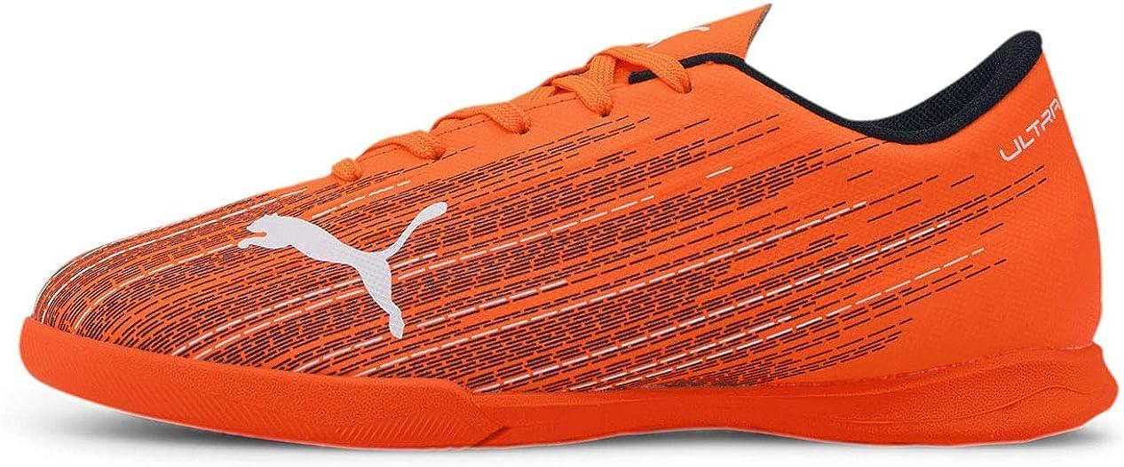 PUMA Kids Boys Ultra 4.1 It Indoor - Soccer Cleats Indoor - Black,Orange