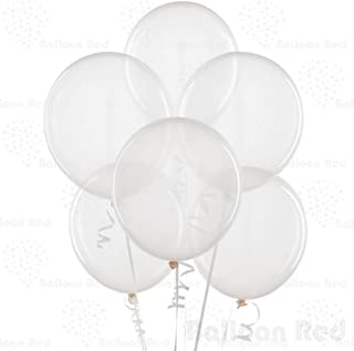 Clear 10 Inch Thickened Latex Balloons, Pack of 100, Premium Helium Quality for Wedding Bridal Baby Shower Birthday Party Decorations Supplies Ballon Baloon Thinken