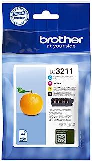 Brother LC 3211VAL 200Seiten, schwarz, cyan, magenta, gelb, Tintenpatrone–Tintenpatronen (DCP J774DW MFC J890DW MFC J895DW, Standard Ertrag 200Seiten)