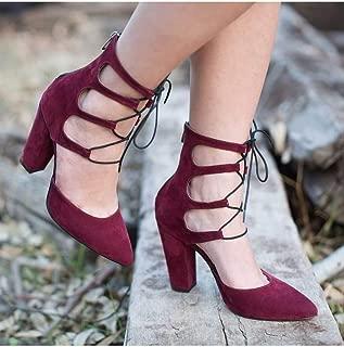 Büyük Numara Bordo Süet Bilekli Stiletto Ayakkabı