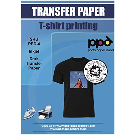 PPD Inkjet PREMIUM T Shirt Transfer Paper A4 for Dark Fabric x 10 Sheets PPD-4-10