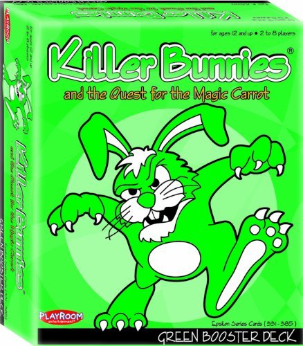 Playroom Entertainment PRE44100 Killer Bunnies Green Booster PLE44100
