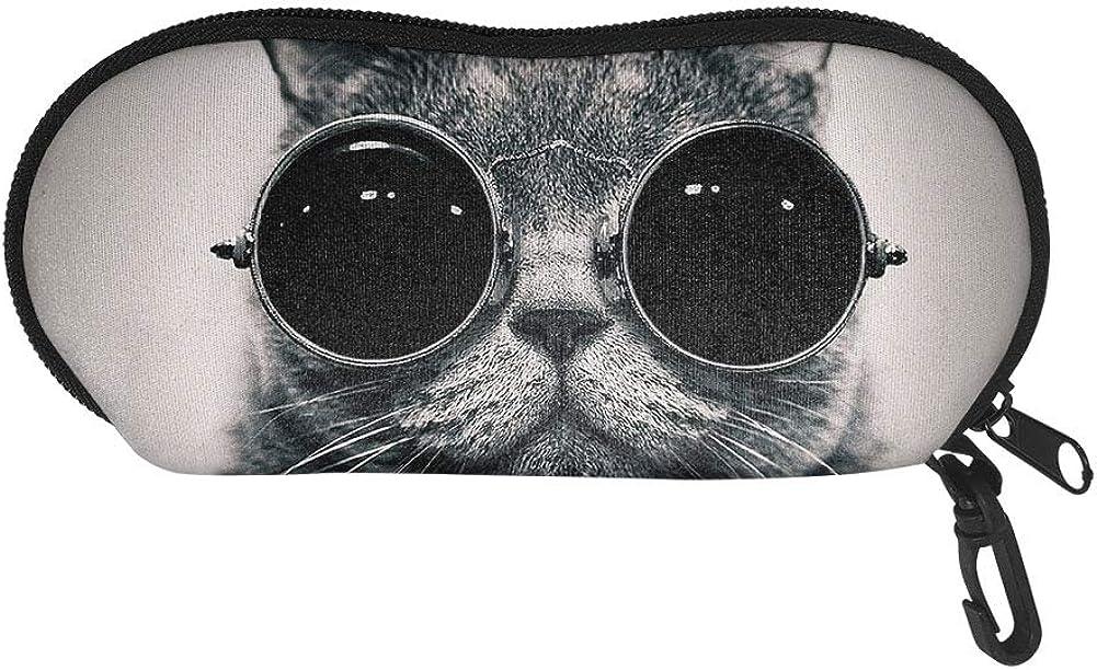 JoyLamoria Lightweight Eyeglass Cases for Women, Printed Handbag Sunglass Bag Zipper Pouch for Stylish