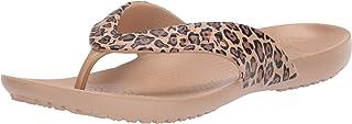 Crocs Women's Kadee Leopard Print Flip-Flop