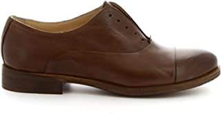 LEONARDO SHOES Luxury Fashion Womens 1914DARKBROWN Brown Lace-Up Shoes | Spring Summer 19
