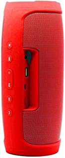 Margoun Charge 4 Portable Wireless Bluetooth Splash Proof Speaker with FM Radio, Mic, TF Card Slot (DSP) - Red