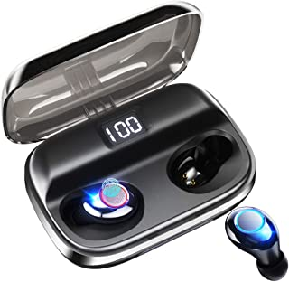 Wireless Earbuds CASECUBE Wireless Headphones Bluetooth 5.0 Earbuds 145H Playtime Noise Cancelling Earbuds Stereo Hi-Fi Wireless Earphones with 4000mAh Charging Case LED Battery Display