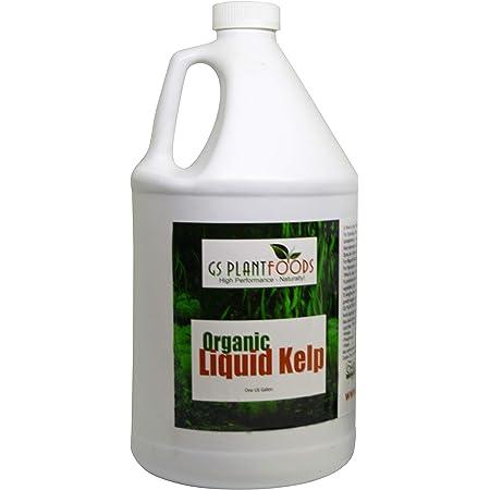 Seaweed Fertilizer - Omri Organic Liquid Fertilizer for Seedlings (1 Gallon) - Liquid Kelp & Vegetable Growth Concentrate for Gardens, Lawns & Soil