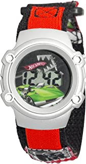 Kids' 7100023 Character Hot Wheels Silver-Tone Digital Watch