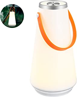 LEDGLE LEDランタン LED ナイトライト ベッドサイドランプ インテリアライト テーブルランプ デスクライト USB充電式 明るさ調整可能 キャンプ アウトドア バーベキュー 夜釣り 狩猟 停電時 災害時 携帯便利 電球色