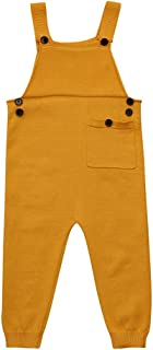 Kehen Kid Knit Overalls Toddler Boy Girl Strap Romper Cotton Jumpsuit Outfits