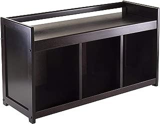 Winsоmе Wооd Deluxe Premium Collection Addison Bench Only Ben Dark Espresso Decor Comfy Living Furniture