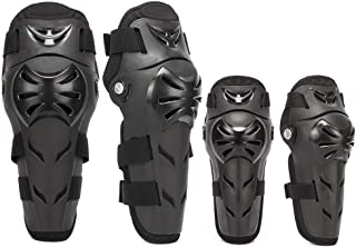 4Pcs Motorcycle Knee Elbow Pads Protection Motocross Racing Knee Shin Guards Protective Gear for Adults