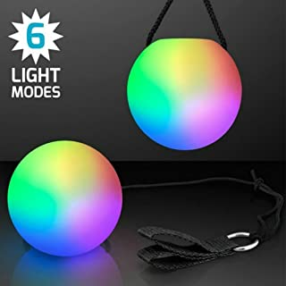 KEPEAK Magic LED Poi Balls Fun Toys for Dances, Camping & Indoor/Outdoor Activities (Pack of 2)