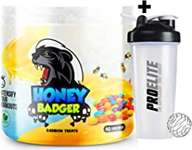 Yummy Sports Honey Badger Pre Workout 40 Servings Explosive Pump Energy Shaker Rainbow Treats Estimated Price : £ 36,99