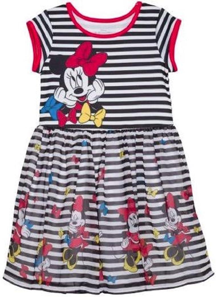 Girls Dress Scuba Chiffon Dress Fit Flare Tulle Skirt (X Small 4/5)