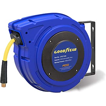 Coxreels P-LPL-130 Low Pressure Retractable Air//Water//Oil Hose Reel: 1//4 I.D. without Hose Made in USA 30 Hose Capacity 300 PSI