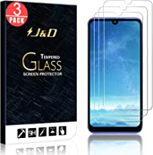 J&D Compatible for 3-Pack Redmi 7 Glass Screen Protector, [Tempered Glass] [Not Full Coverage] HD Clear Ballistic Glass Screen Protector for Xiaomi Redmi 7 Screen Protector
