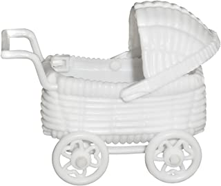 ACI PARTY AND SPIRIT ACCESSORIES Mini 3D Baby Carriage White 6pc Package