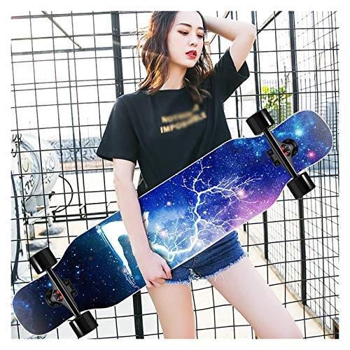 Longboard Mädchen Teenager Skateboard,Longboard Special Edition Komplettboard Sport Skateboarding, 42 Inch 8-lagigem Ahornholz Cruiser Komplettes Board,mit High Speed ABEC-11Kugellagern(107)cm