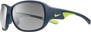 Nike EV0765-007 Exhale Sunglasses (One Size), Matte Dark Magnet Grey/Volt, Grey with Silver Flash Lens