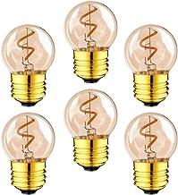 FRCOLOR 6pcs Edison Bulbs LED Vintage Antique Light Bulbs Warm White 2200K 110V E26 Medium Base Lamp for Home Outdoor Ligh...