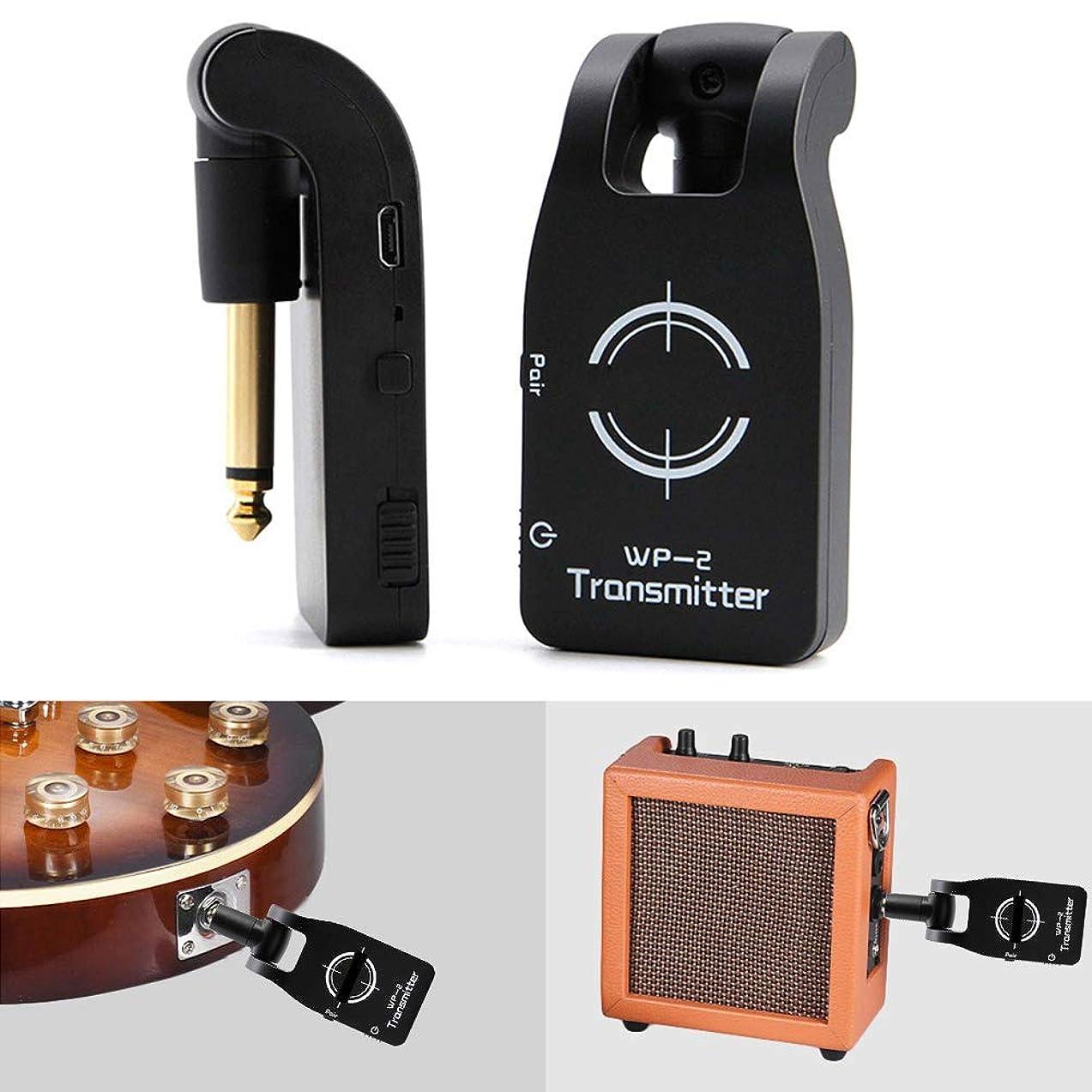 Finetoknow Guitar Transmitter Receiver, Guitar Wireless Transmitter Receiver for Electric Guitar, 2.4GHZ Wireless USB Rechargeable Electric Guitar System Digital Bass Audio Transmitter Receiver