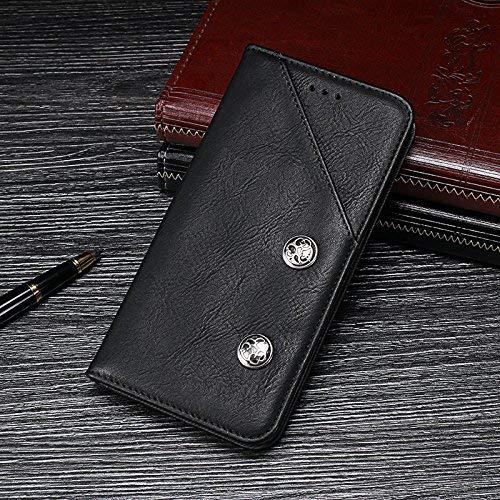 BELLA BEAR Funda para Vivo Nex 3 5G Billetera de Cuero Función de Soporte Estilo de Negocios Phone Case for Vivo Nex 3 5G(Negro)