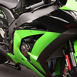 Shogun Kawasaki ZX10 ZX10R ZX10RR 2016 2017 2018 2019 2020 Black Complete No Cut Slider Kit Includes No Cut Frame Sliders Swing Arm Spools and Bar Ends Fits ABS & NON ABS - 755-4959 - MADE IN THE USA