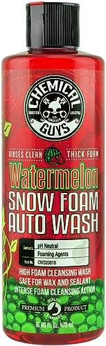 Chemical Guys CWS20816 Watermelon Snow Foam Car Wash Soap (Works with Foam Cannons, Foam Guns or Bucket Washes), 16 o...