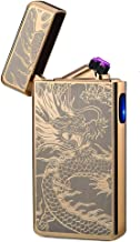 lcfun Dual Arc Plasma Lighter USB Rechargeable Windproof Flameless Butane Free Electric..