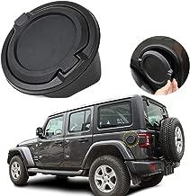 Car Exterior Accessories Fuel Filler Door Cover Gas Cap for Jeep Wrangler JL 2018 (Black A