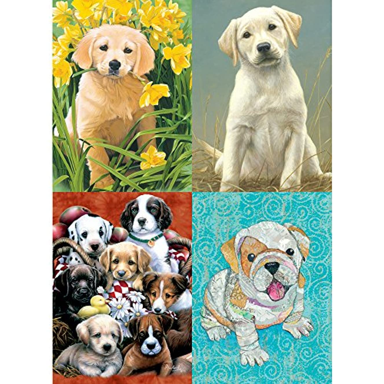 Tree-Free Greetings Puppy Pal All Occasion Card Assortment, 5 x 7 Inches, 8 Cards and Envelopes per Set (GA31407)