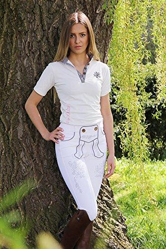 ea.St riding wear Rossalm T-Shirt GRETL Fb. Weiß/grau Gr. S