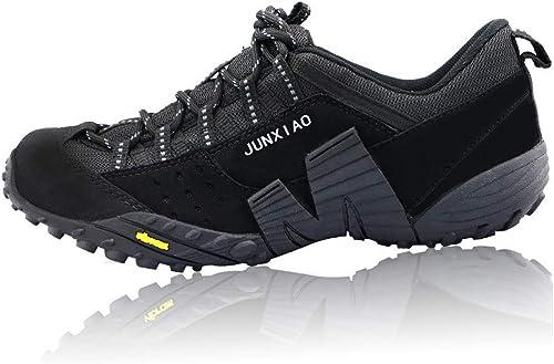 Chaussures de randonnée antidérapantes Chaussures de randonnée résistantes à l'usure Chaussures d'escalade extérieures Confortables Sports de Loisirs Chaussures de marche-noir-40