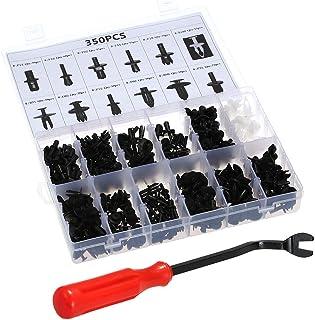 Romacci Clipes de fixação automática com ferramenta de remoção de clipes 350PCS 12 tamanhos de carro, pino de pressão, reb...