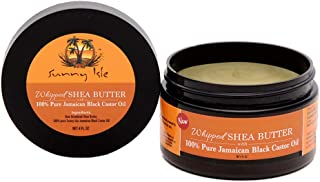 Sunny Isle Whipped Shea Butter With Pure Jamaican Black Castor Oil, Black, 4 Ounces